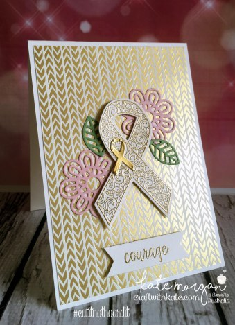Ribbon of Courage meets Bundle of Love by Kate Morgan, Independent Stampin Up Demonstrator Australia #cutitnothoardit #cancer DIY