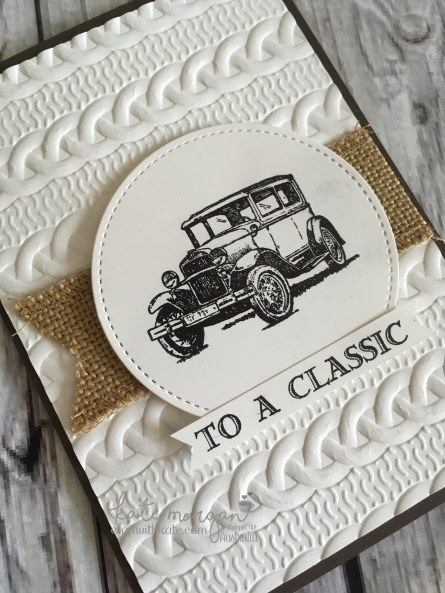 To a Classic masculine card using Stampin Ups Guy Greetings by Kate Morgan, Independent Demonstrator Australia. Craft with Kate angle