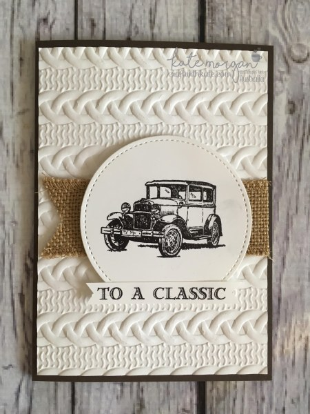 To a Classic masculine card using Stampin Ups Guy Greetings by Kate Morgan, Independent Demonstrator Australia. Craft with Kate