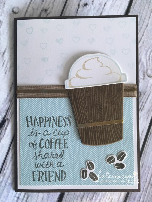Coffee Cafe card by Craft with Kate, Independent Stampin Up Demonstrator Australia. 2017 DIY Handmade