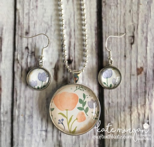 Costume Jewellery using Stampin Up Delightful Daisy DSP by Kate Morgan, Independent Demonstrator, Australia DIY #stampinup #cutitnothoardit