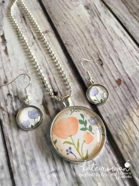 Costume Jewellery using Stampin Up Delightful Daisy DSP by Kate Morgan, Independent Demonstrator, Australia #stampinup #cutitnothoardit