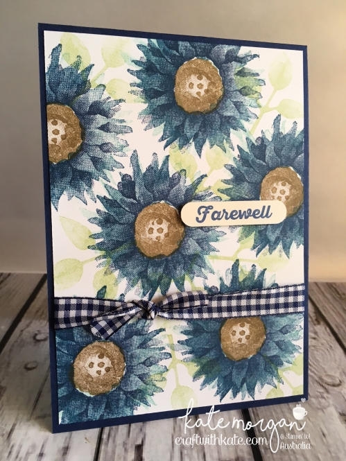 Farewell card using Stampin Up Painted Harvest, by Kate Morgan, Independent Demonstrator, Australia. Fancy  #makeacardsendacard upright.JPG