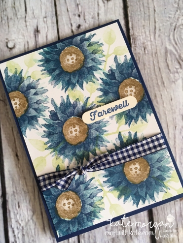Farewell card using Stampin Up Painted Harvest, by Kate Morgan, Independent Demonstrator, Australia. Fancy #makeacardsendacard