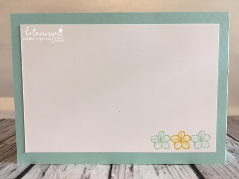 FREE Tutorial for Double Z Fold using Whole Lot of Lovely DSP & Best Birds stamp set by Kate Morgan, Independent Demostrator, Australia. #Stampinup #makeacardsendacard Fancy Folds back