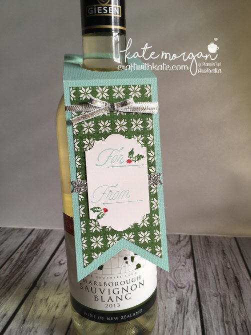 Merry Little Labels by Craft with Kate, Independent Demonstrator Australia. 2017 Holiday catalogue. DIY Gift Tags for wine.JPG
