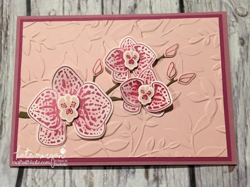 Climbing Orchid by Kate Morgan Stampin Up Demonstrator Australia