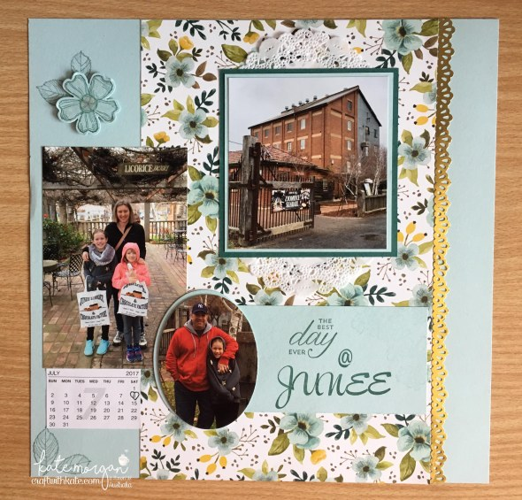 Memory Keeping & Scrapbooking using Whole Lot of Lovely DSP, Birthday Blossoms, Brushwork Alphabet by Kate Morgan, Independent Demonstrator, Australia 2017 #stampinup.JPG