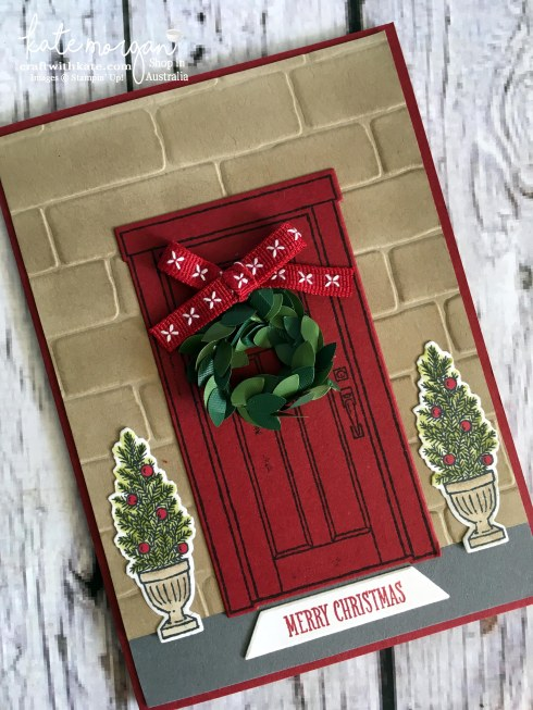 Christmas Card using Stampin Up At Home with You by Kate Morgan, Independent Demonstrator, Australia. Heart of Christmas