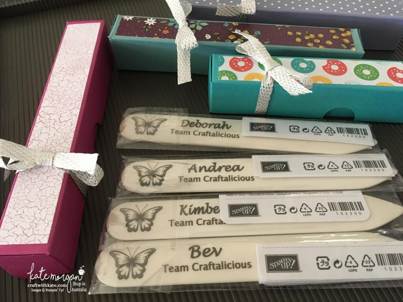 OnStage Team member gifts by Kate Morgan, Independent Demonstrator, Australia #stampinup #onstage2017