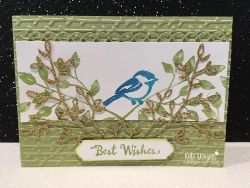 Best Wishes card using Stampin Ups Petal Palette Bundle, Occasions 2018 by Kate Morgan, Independent Demonstrator, Australia. DIY