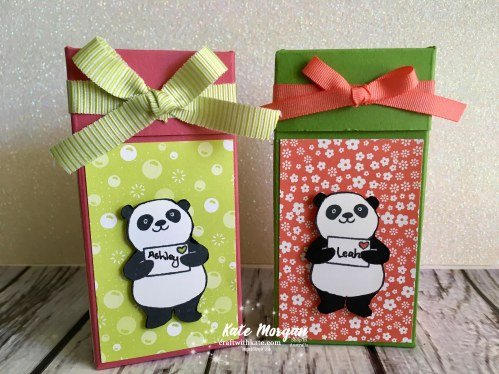 Impossible Gift Box using Stampin Up Party Pandas by Kate Morgan, Independent Demonstrator, Australia 3D DIY