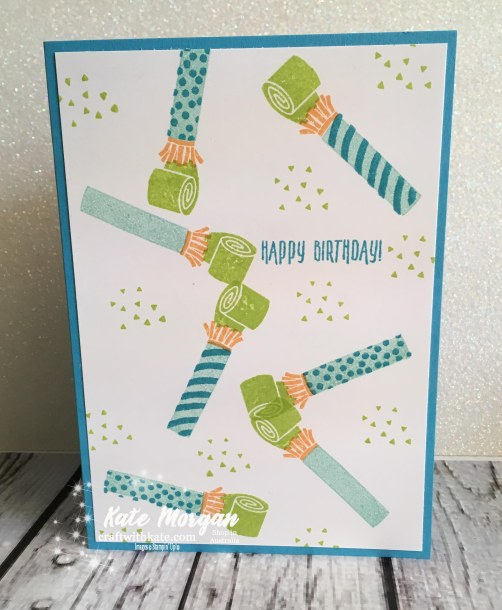 Masculine card using Picture Perfect Birthday, Stampin' Up! by Kate Morgan, Independent Demonstrator, Australia, DIY