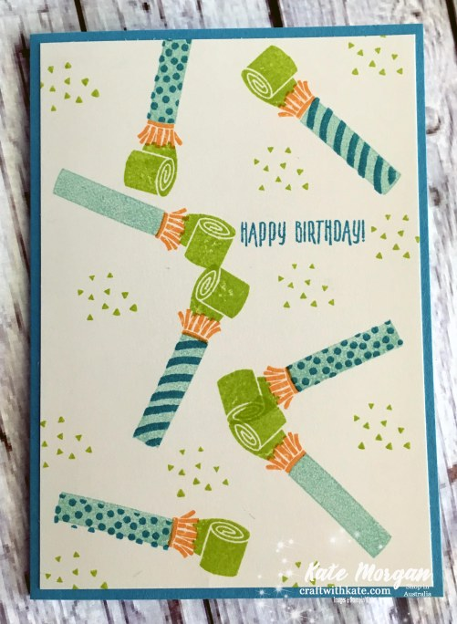 Masculine card using Picture Perfect Birthday, Stampin' Up! by Kate Morgan, Independent Demonstrator, Australia DIY.JPG