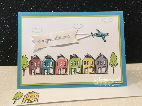 Stampin Up In the City by Craft with Kate, Independent Demonstrator, Australia Congratulations Handmade Card DIY