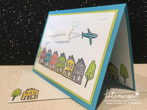 Stampin Up In the City by Craft with Kate, Independent Demonstrator, Australia Congratulations Handmade Card