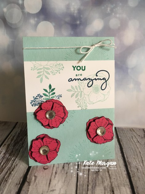 Amazing You by Kate Morgan, Independent Stampin Up Demonstrator, Australia #Saleabration2018