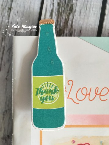 Bubble Over & Bubbles & Fizz DSP Bookmark by Kate Morgan, Independent Stampin Up Demonstrator, Australia