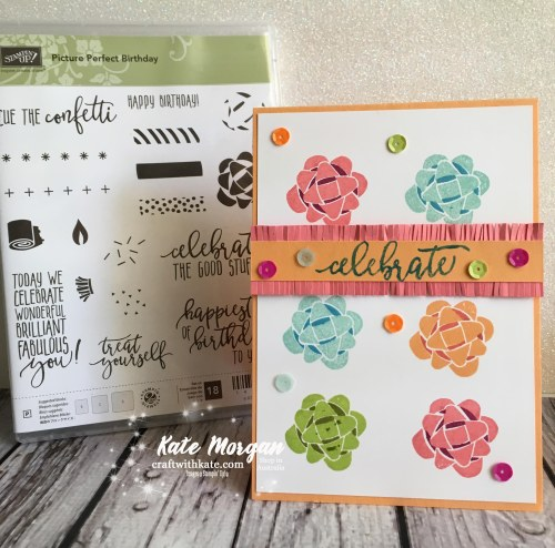 Celebrate with Picture Perfect Birthday, Stampin' Up! by Kate Morgan, Independent Demonstrator, Australia DIY