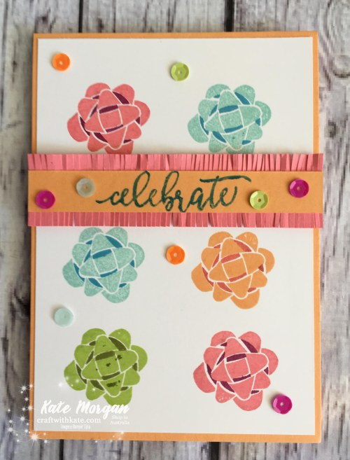 Celebrate with Picture Perfect Birthday, Stampin' Up! by Kate Morgan, Independent Demonstrator, Australia, DIY