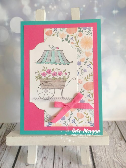 Friendship's Sweetest Thoughts, Stampin Up by Kate Morgan Independent Demonstrator Australia Feminine Handmade card Delightful Daisy DSP