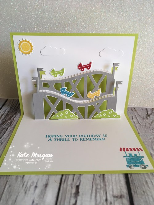Let the Good Times Roll Masculine inside card Stampin Up