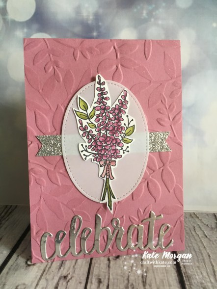 Lots of Lavender by Kate Morgan, Independent Stampin Up Demonstrator, Australia #Saleabration2018