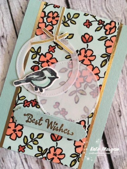 Petal Palette Suite Stampin Up Occasions 2018 Blog Hop by Kate Morgan, Independent Demonstrator Australia. Feminine card DIY
