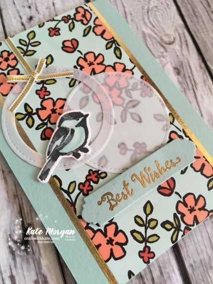 Petal Palette Suite Stampin Up Occasions 2018 Blog Hop by Kate Morgan, Independent Demonstrator Australia. Feminine card.