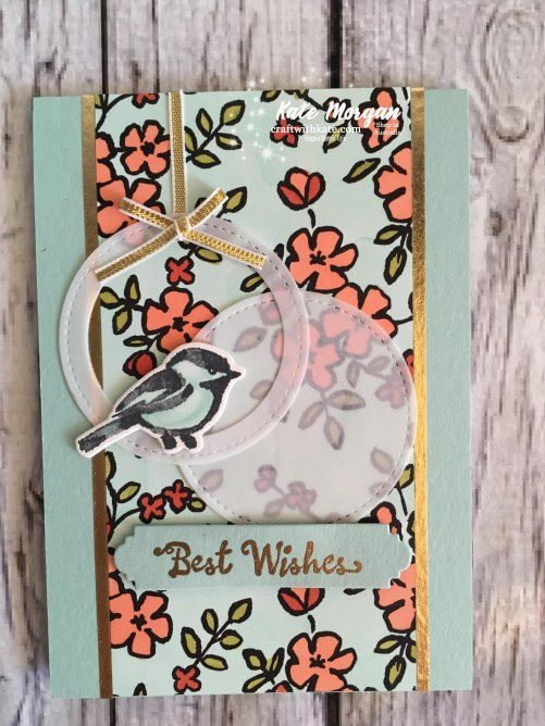 Petal Palette Suite Stampin Up Occasions 2018 Blog Hop by Kate Morgan, Independent Demonstrator Australia. Feminine card