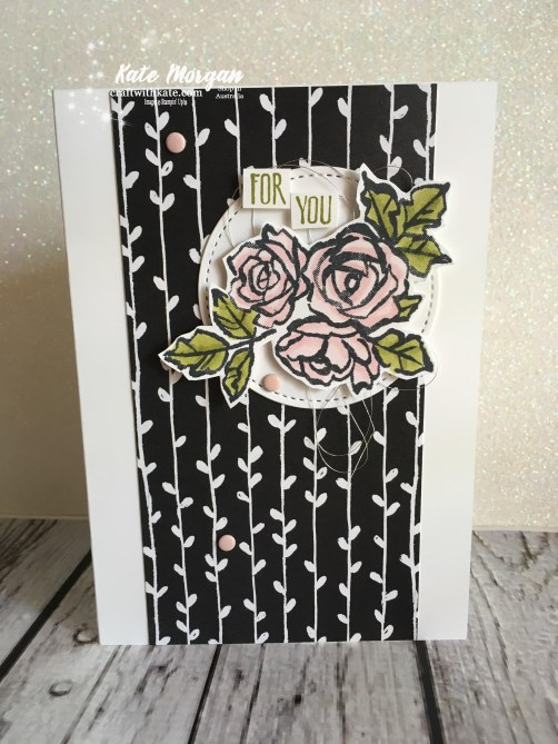 Petal Passion Suite Stampin Up Occasions 2018 by Kate Morgan, Independent Demonstrator Australia. Feminine card