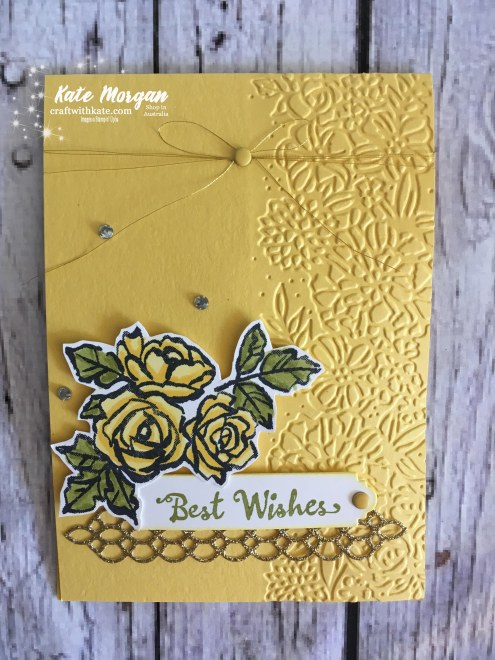 Petal Palette Suite Stampin Up Occasions 2018 by Kate Morgan, Independent Demonstrator, Australia. Feminine card