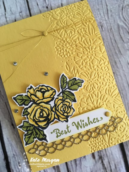 Petal Palette Suite Stampin Up Occasions 2018 by Kate Morgan, Independent Demonstrator, Australia. Feminine card.