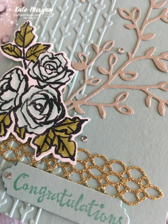 Petal Palette Suite, Stampin Up, Occasions 2018 by Kate Morgan, Independent Demonstrator Australia. Feminine card