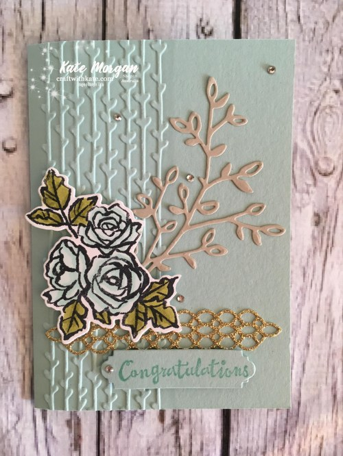 Petal Palette Suite, Stampin Up Occasions 2018 by Kate Morgan, Independent Demonstrator Australia. Feminine card