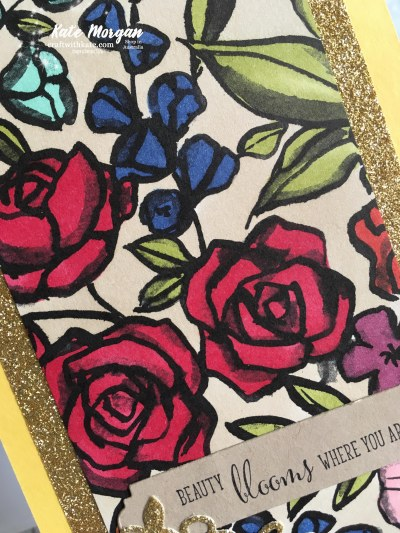 Petal Passion DSP with Stampin Blends, Stampin Up by Kate Morgan Independent Demonstrator Australia Feminine Handmade card