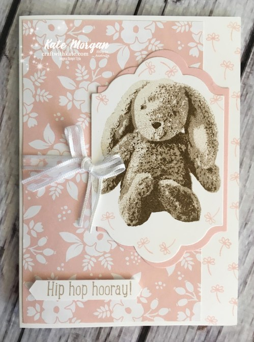 Sweet Little Something, Whole Lot of Lovely DSP Stampin Up by Kate Morgan, Independent Demonstrator Australia #Occasions2018 Hip Hip Hooray DIY