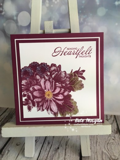 Heartfelt Blooms Stampin Up by Kate Morgan, Independent Demonstrator, Australia Saleabration 2018