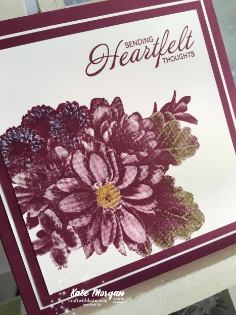 Heartfelt Blooms Stampin Up by Kate Morgan, Independent Demonstrator Australia Saleabration 2018