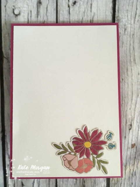 Sweet Soiree Stampin Up Occasions 2018 by Kate Morgan Independent Demonstrator Australia Feminine Handmade Card inside