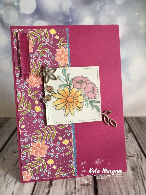 Sweet Soiree Stampin Up Occasions 2018 by Kate Morgan Independent Demonstrator Australia Feminine Handmade Card