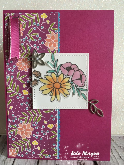 Sweet Soiree, Stampin Up Occasions 2018 by Kate Morgan Independent Demonstrator Australia Feminine Handmade Card