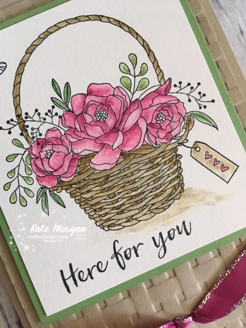 Blossoming Basket & Basket Weave TIEF Stampin Up by Kate Morgan, Independent Demonstrator, Australia