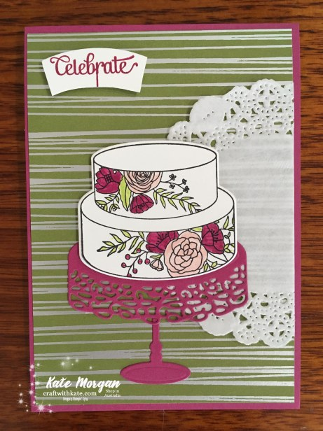 Cake Soiree Bundle Stampin Up Occasions 2018 by Kate Morgan, Independent Demonstator, Australia