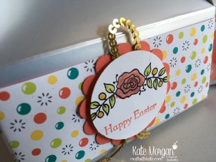 Easter Treat Box using Stampin Ups Bubbles & Fizz DSP, Lots of Lavender by Kate Morgan, Craft with Kate.