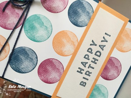 Eclectic Expressions Birthday card Saleabration 2018 using Stampin Up by Kate Morgan, Independent Demonstrator, Australia