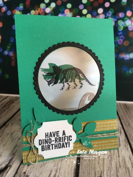 No Bones About It 6th Birthday card, Stampin Up 2018 by Kate Morgan, Independent Demonstator, Australia.
