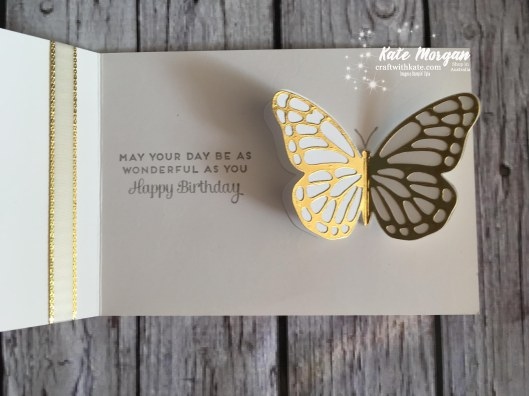 Springtime Foil SDSP Butterfly Stampin Up by Kate Morgan, Independent Demonstrator, Australia.