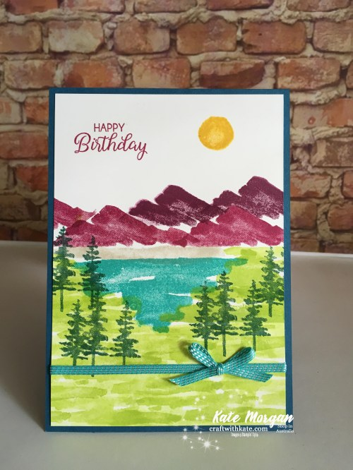 Waterfront Birthday card Occasions 2018 using Stampin Up by Kate Morgan Independent Demonstrator Australia
