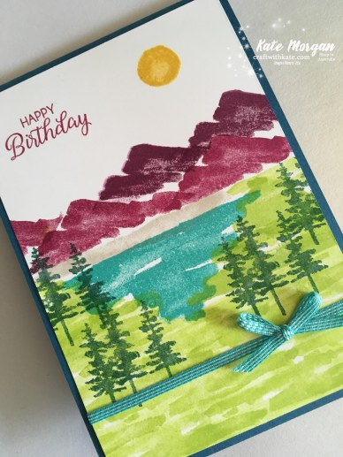 Waterfront Birthday card Occasions 2018 using Stampin Up by Kate Morgan, Independent Demonstrator, Australia.